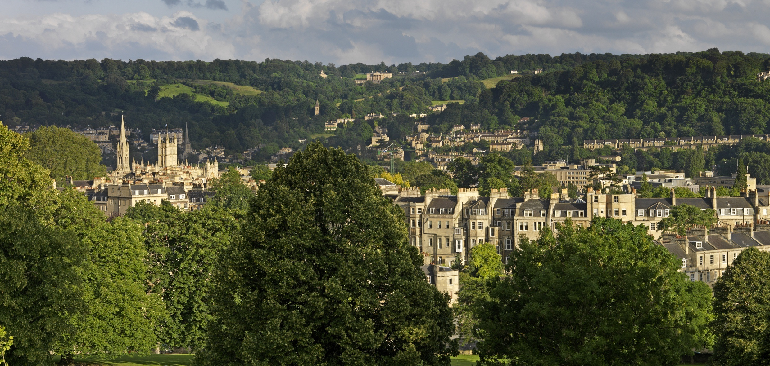Bath Images green setting of the city | city of bath world heritage site