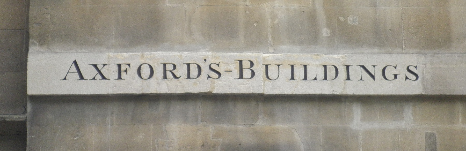 Image: clearly visible street sign for Axford's Buildings following restoration