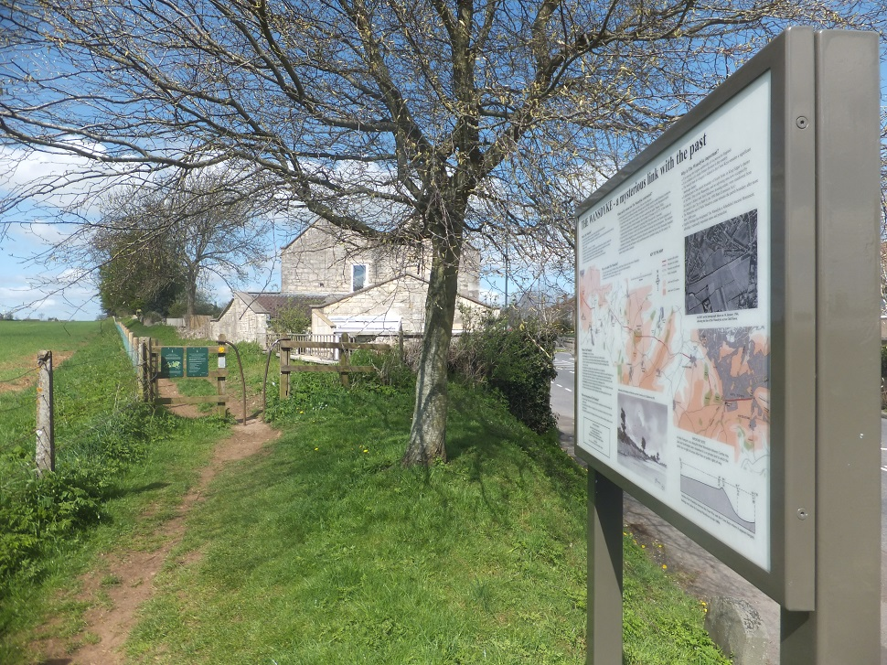 Image: view of the setting of the Wansdyke interpretation panel
