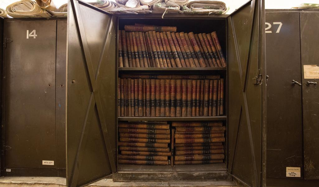 Image: Historic books, Bath Record Office