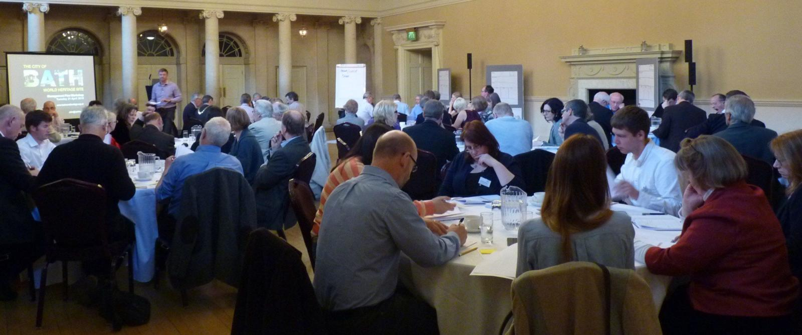 Image: delegates in World Heritage Site Management Plan Stakeholder Event