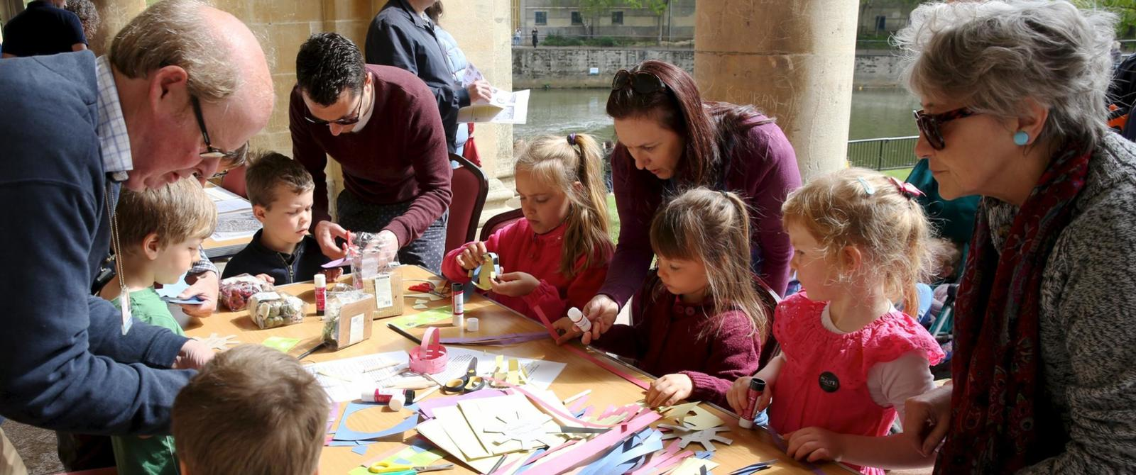 Image of craft activities at World Heritage Day