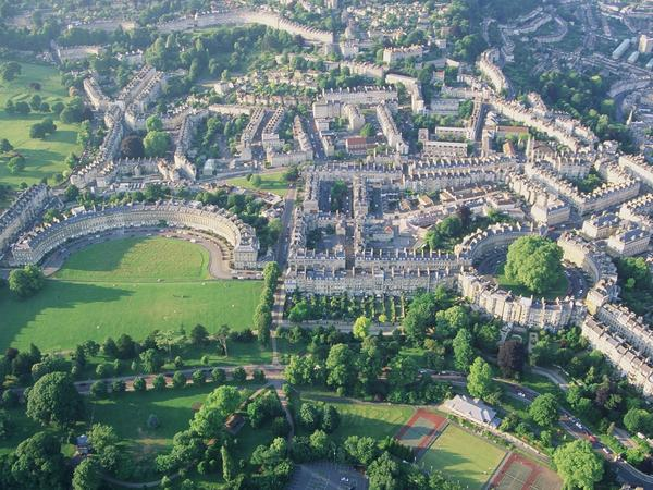 Image: Aerial view of Bath, Bath Tourism Plus