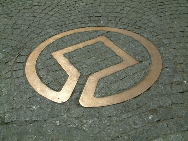 Image: The World Heritage symbol outside the Pump Room