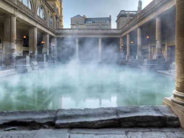 Image: The Great Bath at the Roman Baths, Bath Tourism Plus