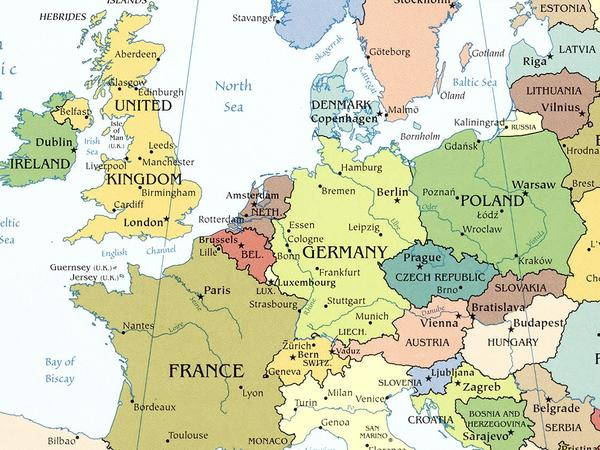 Image: Map of Europe