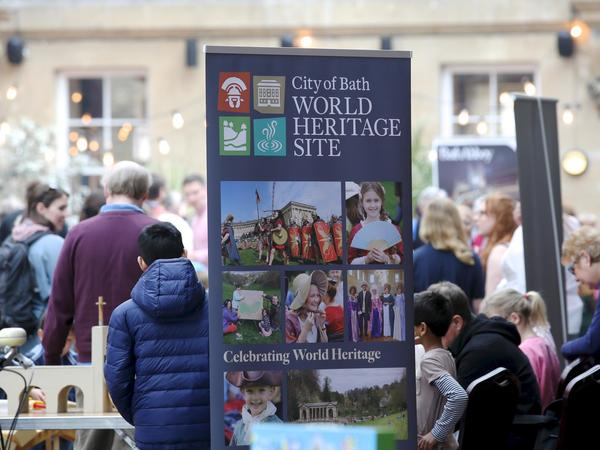 Bath World Heritage Day banner at event